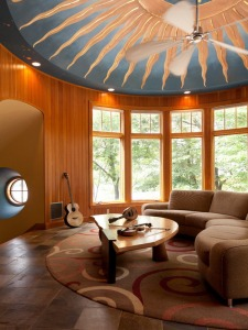 Great-Customize-Living-Room-Ceiling-Murals-Ideas